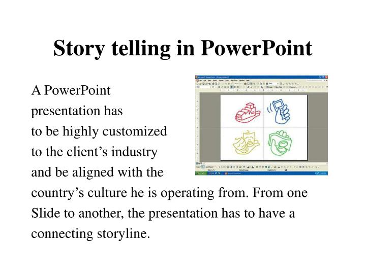 Story telling in PowerPoint