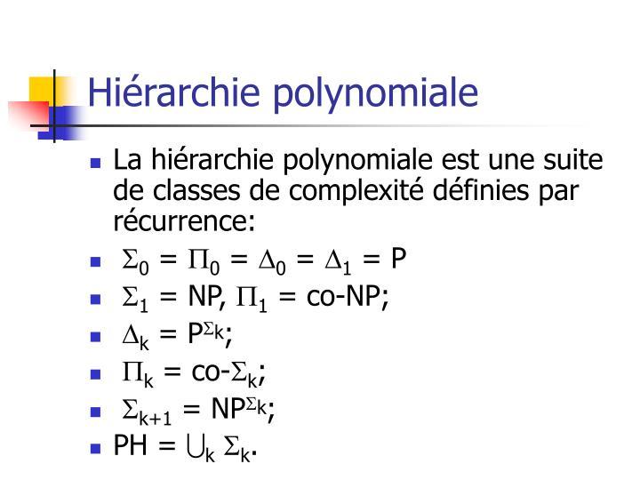 Hiérarchie polynomiale