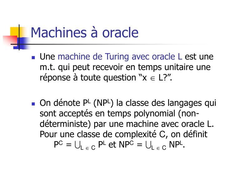 Machines à oracle