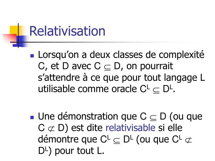 Relativisation