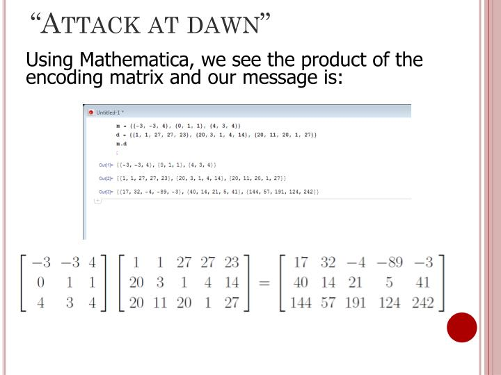 """""""Attack at dawn"""""""