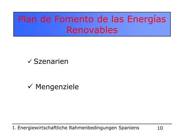 Plan de Fomento de las Energías Renovables