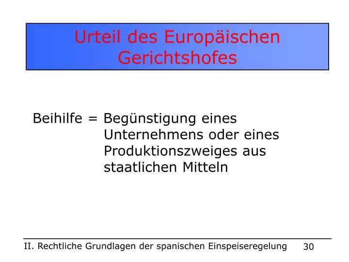 Urteil des Europäischen Gerichtshofes