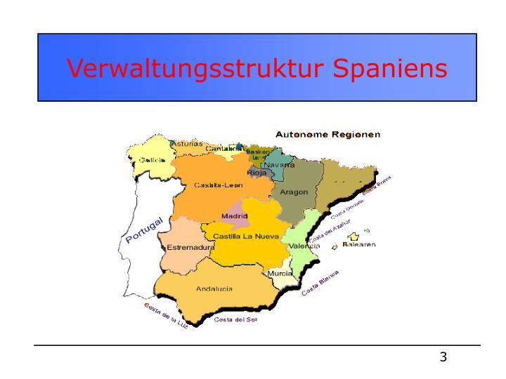 Verwaltungsstruktur Spaniens