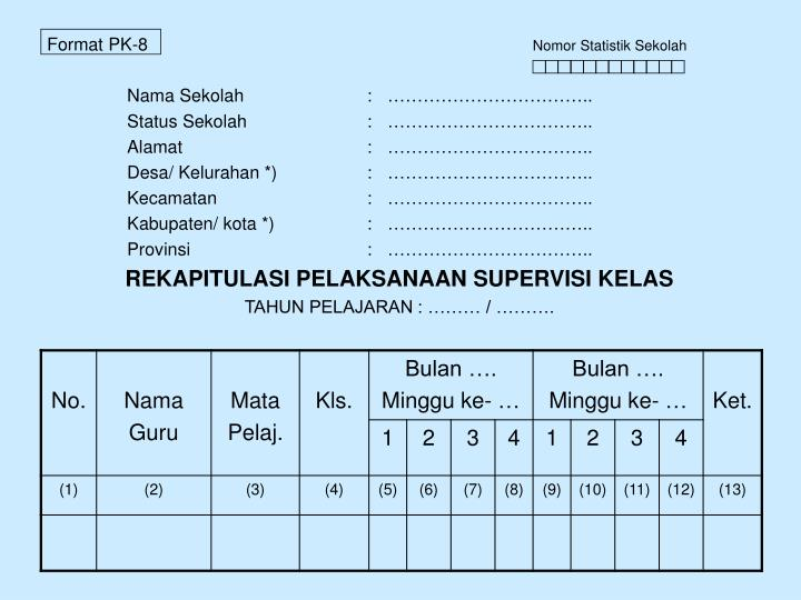 Format PK-8