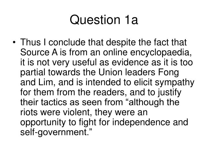 Question 1a