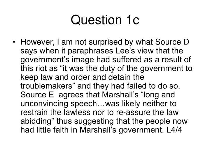 Question 1c