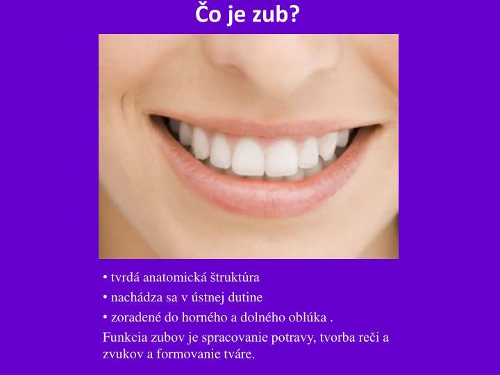 Čo je zub?