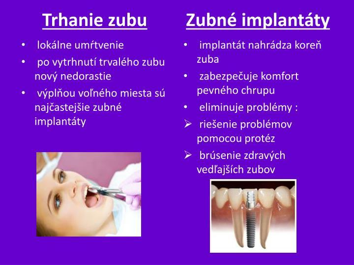 Trhanie zubu