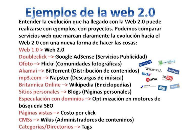 Ejemplos de la web 2.0