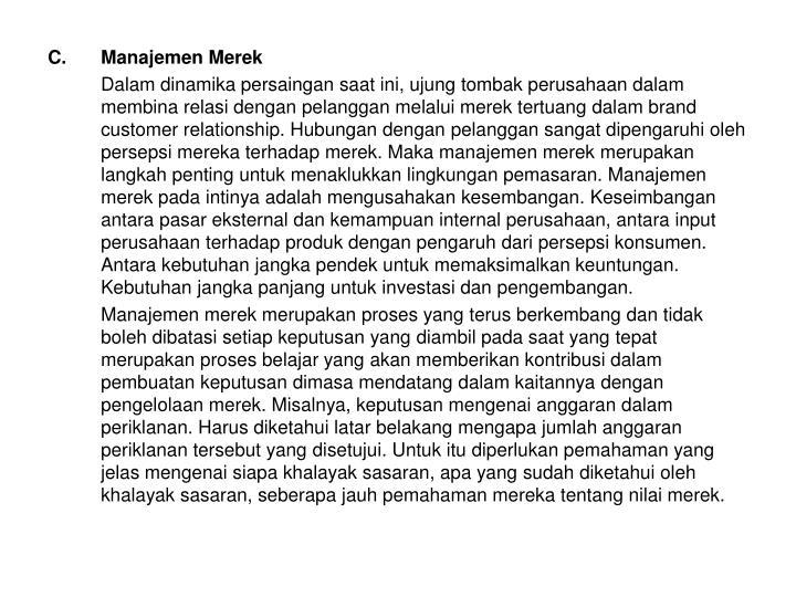 Manajemen Merek