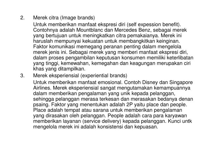 2.Merek citra (Image brands)