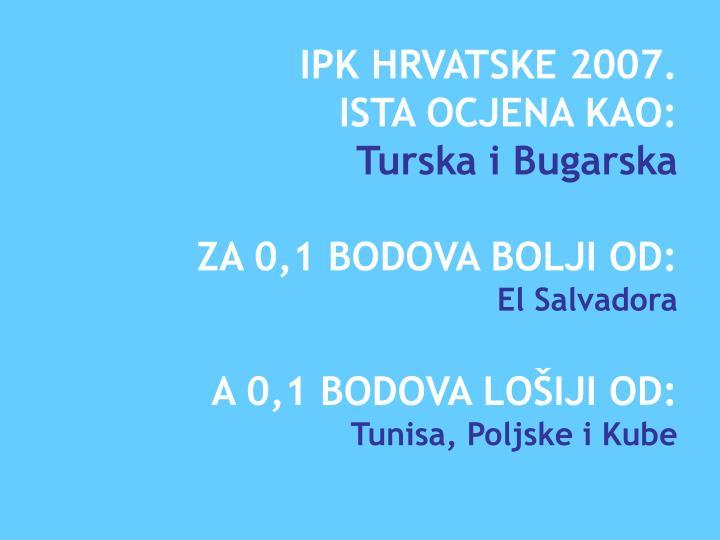 IPK HRVATSKE 2007.