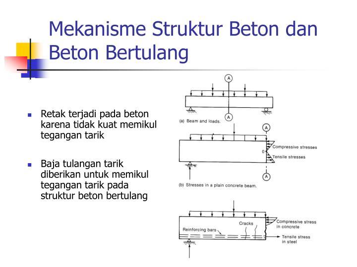 Mekanisme Struktur Beton dan Beton Bertulang