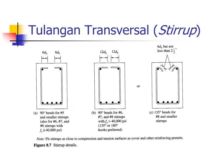 Tulangan Transversal (