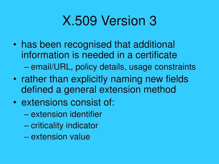 X.509 Version 3