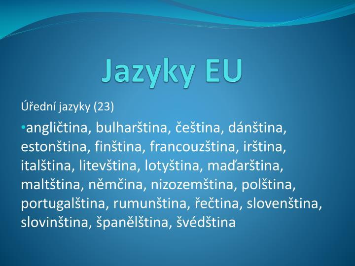Jazyky EU