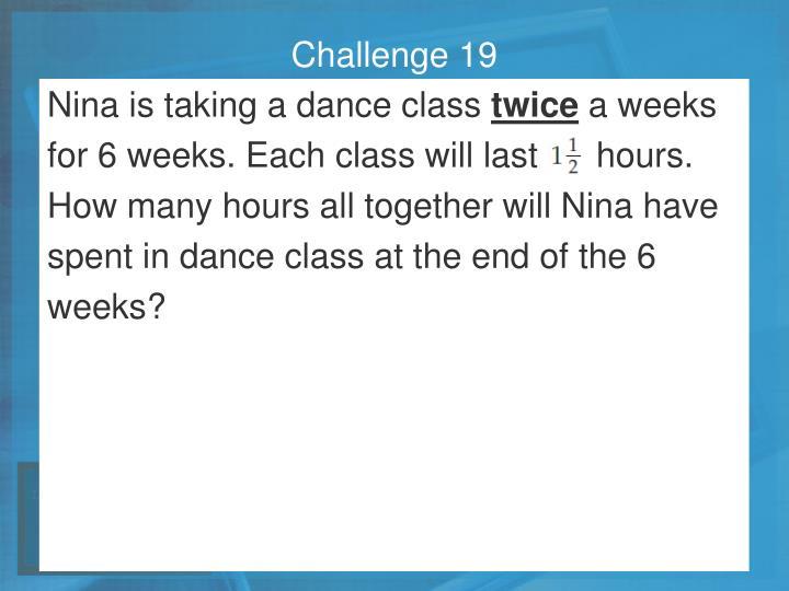 Challenge 19