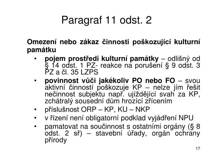 Paragraf 11 odst. 2