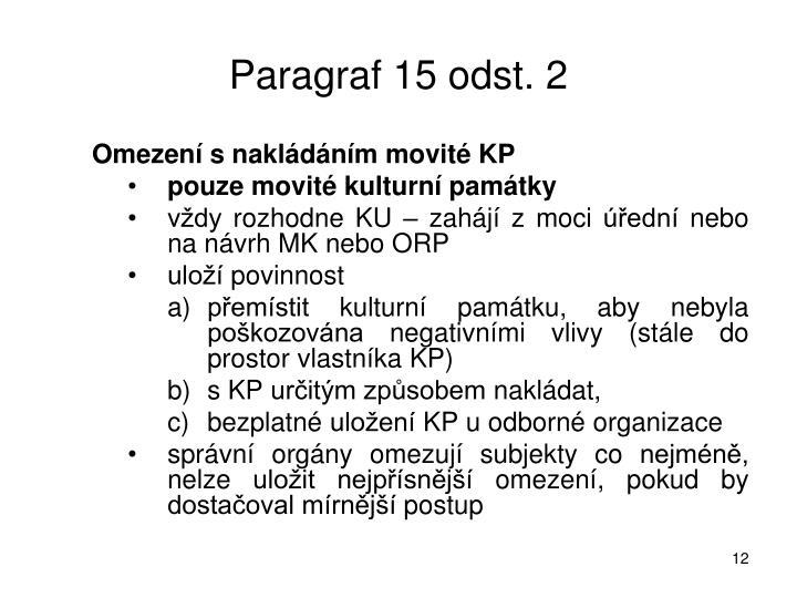 Paragraf 15 odst. 2