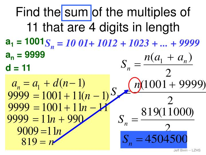 Find the sum of the multiples of 11 that are 4 digits in length