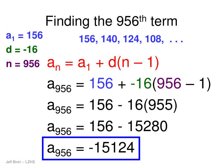 Finding the 956