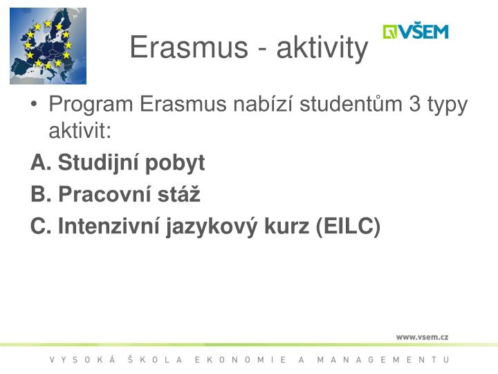 Erasmus - aktivity