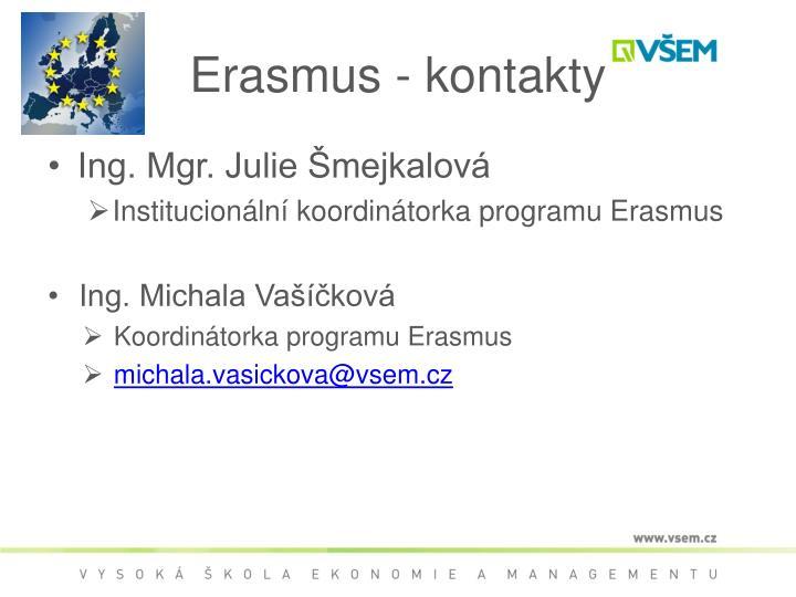 Erasmus - kontakty