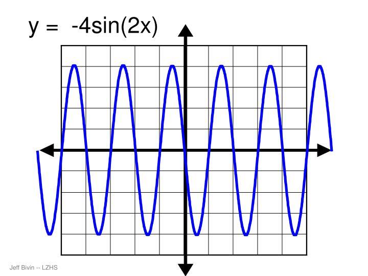 y =  -4sin(2x)