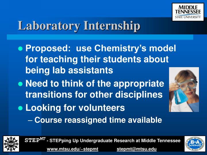 Laboratory Internship