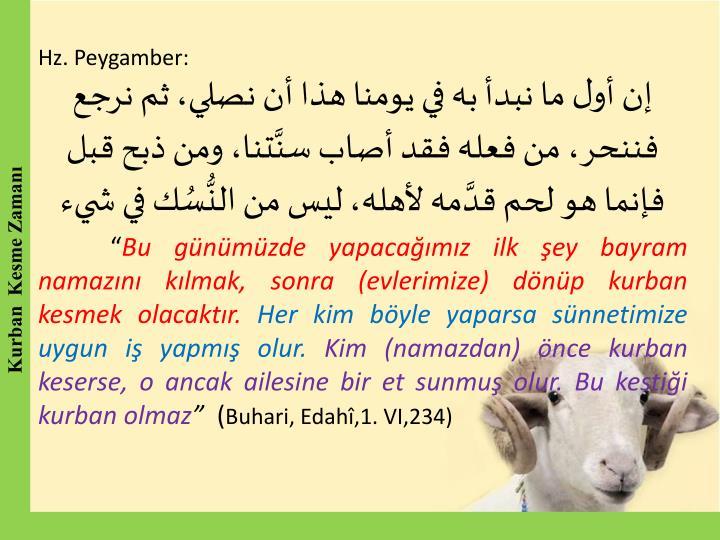 Hz. Peygamber: