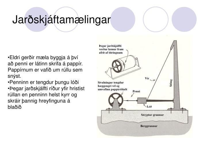 Jarðskjáftamælingar