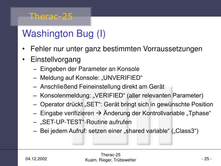 Washington Bug (I)