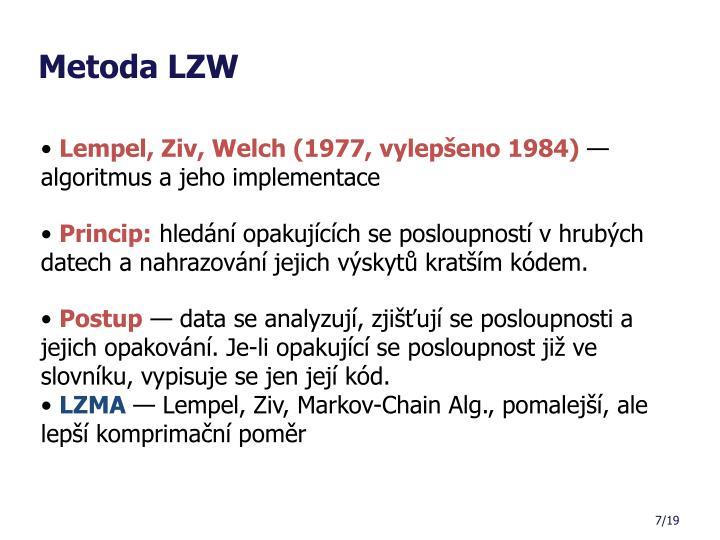 Metoda LZW