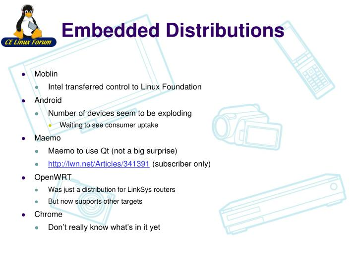 Embedded Distributions