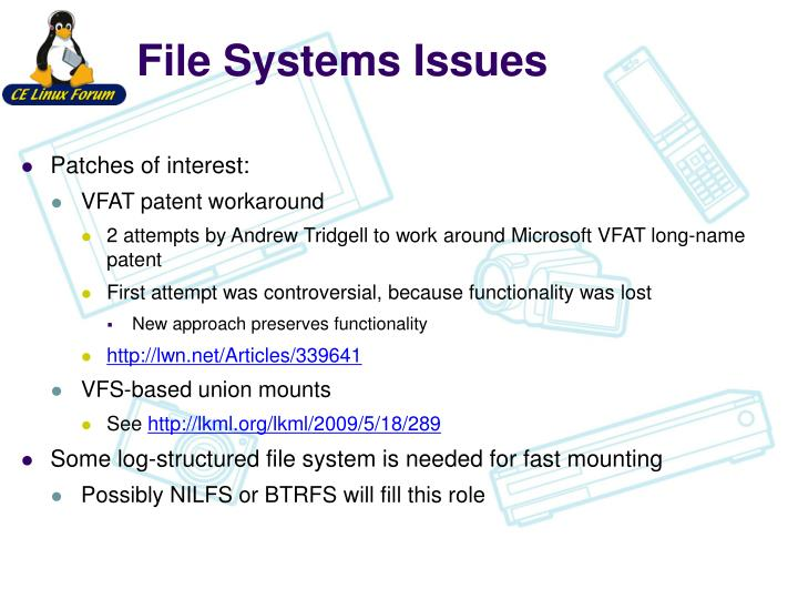File Systems Issues