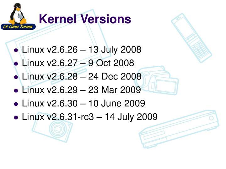 Kernel Versions