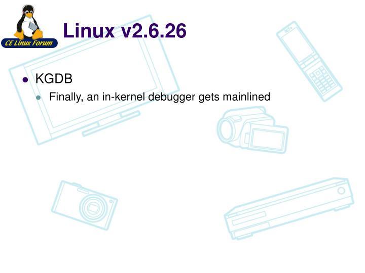 Linux v2.6.26