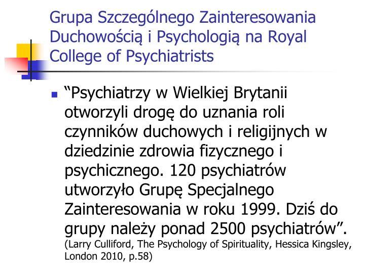 Grupa Szczególnego Zainteresowania Duchowością i Psychologią na