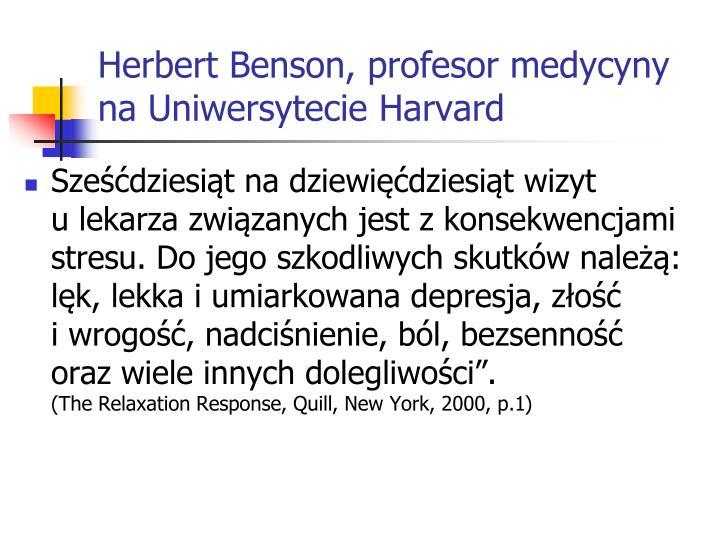 Herbert Benson, profesor med