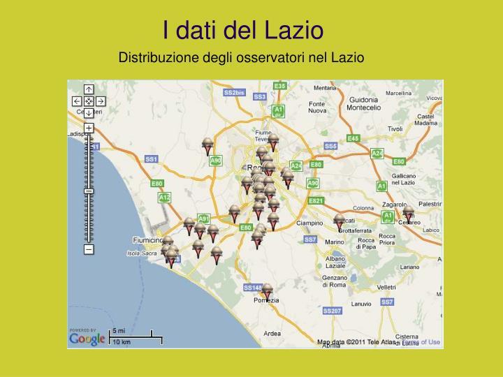 I dati del Lazio