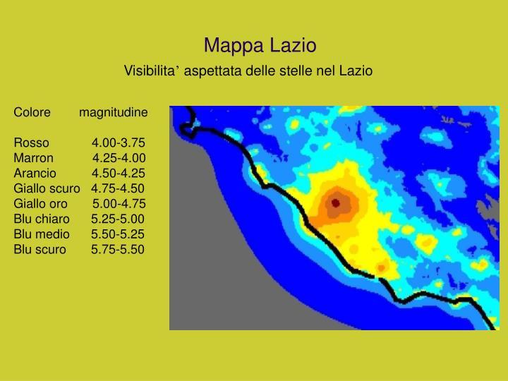 Mappa Lazio