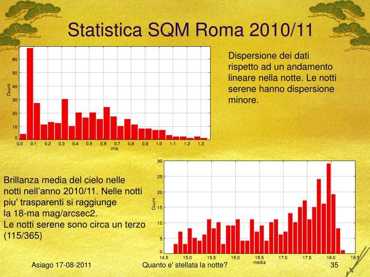 Statistica SQM Roma 2010/11