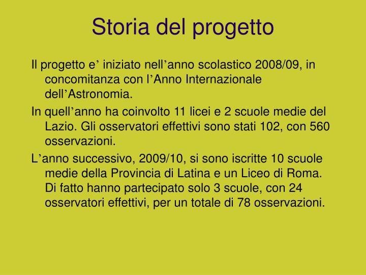 Storia del progetto