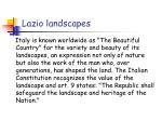 lazio landscapes