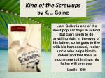 king of the screwups by k l going
