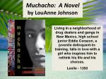muchacho a novel by louanne johnson