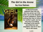 the girl in the arena by lisa haines