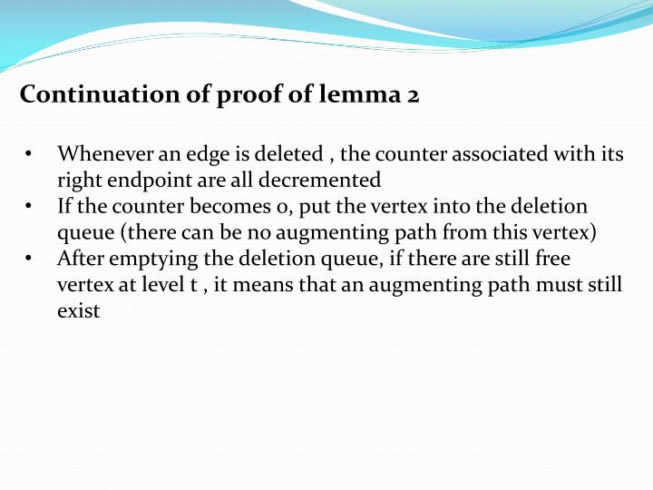 Continuation of proof of lemma 2