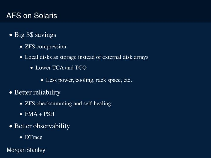 AFS on Solaris
